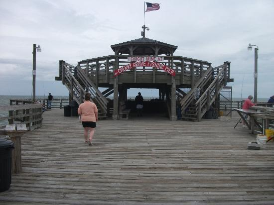 Fishing pier with restaurant review of cherry grove for North myrtle beach fishing pier