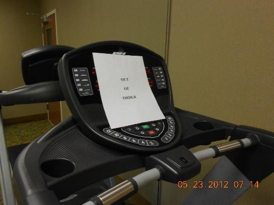 Comfort Suites Dothan: Out of Order Treadmill