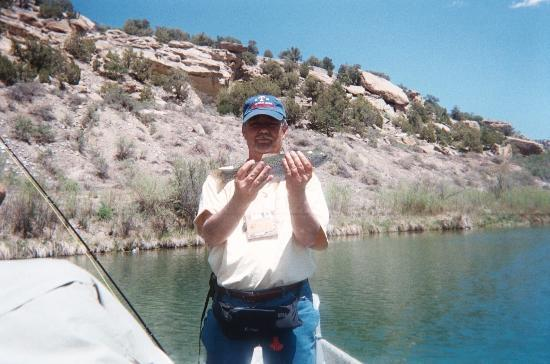 Navajo Dam, NM: Steve's first rainbow!