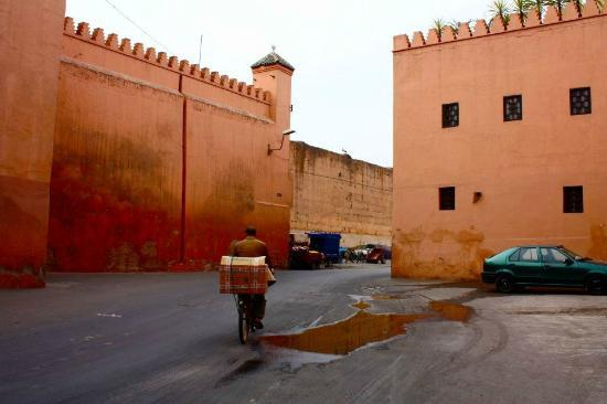 Riad Khabia: just outside the hostel- palace