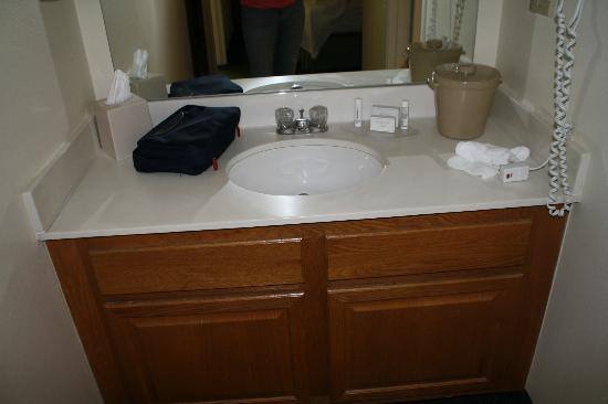 Vanity In 2 Bedroom Suite King Room Picture Of Towneplace Suites Chicago Naperville