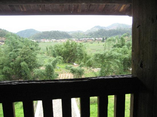 Hua'an County, China: view out from the top floor