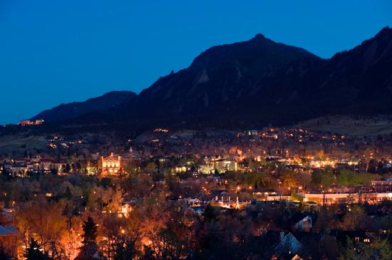 Sun setting on Boulder. Photo credit: Stephen Collector