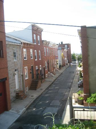 Blue Door on Baltimore: Alley view from Patterson Room