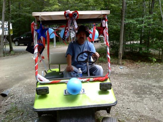 Paradise Park Campground: golf cart parade for the 4th of July