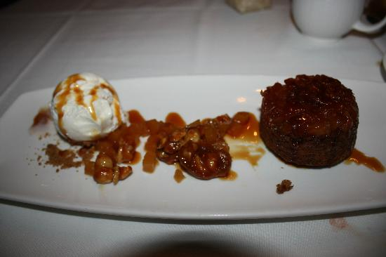 Kapalua Photo: Pineapple upside-down cake with coconut ice cream and ...