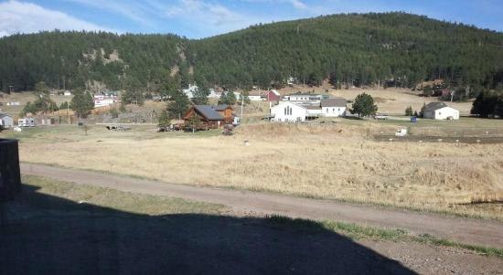 Quality Inn: View from window-- Mickelson Trail, Black Hills