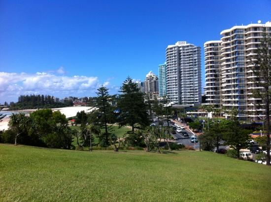 Coolangatta Sands Hostel: view from Eagle Point hill