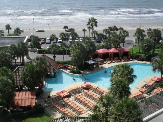 The San Luis Resort: The view from our balcony,amazing