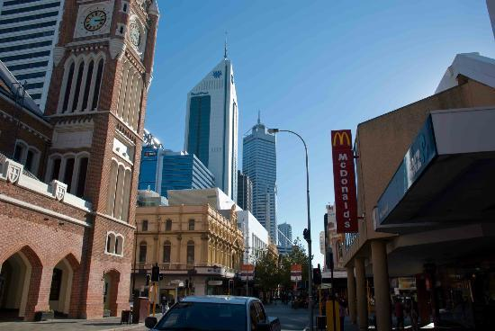 Sunlight reflects on the bankwest tower picture of for 111 st georges terrace perth