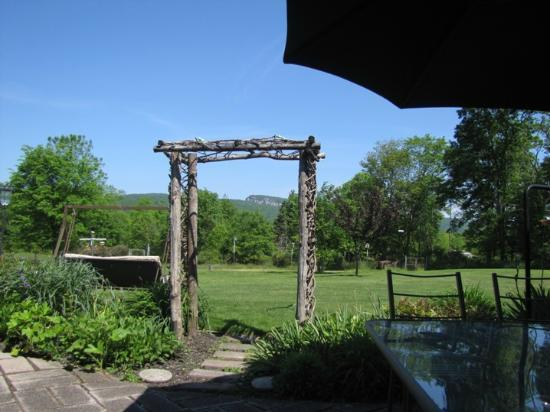 Mountain Meadows Bed & Breakfast: A view from the porch