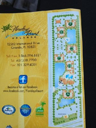 Floridays Resort Orlando: map with address and phone info