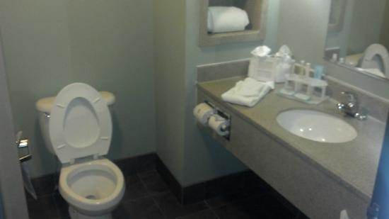 Holiday Inn Express Superior: Not very cramped bathroom