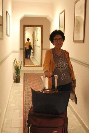 Hotel Silla: My mom in the Hallway on our way for check-out