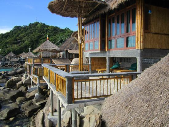 Koh Tao Bamboo Huts: Area to take some sun and relax..