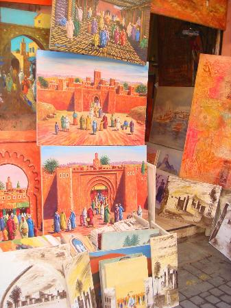 Riad Dubai: paintings in the souk