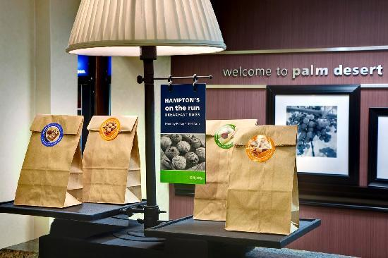"Hampton Inn & Suites - Palm Desert: Complimentary ""On the Run"" Bags"