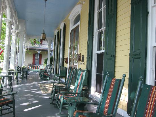 Mainstay Inn and Cottage: View of the front porch.