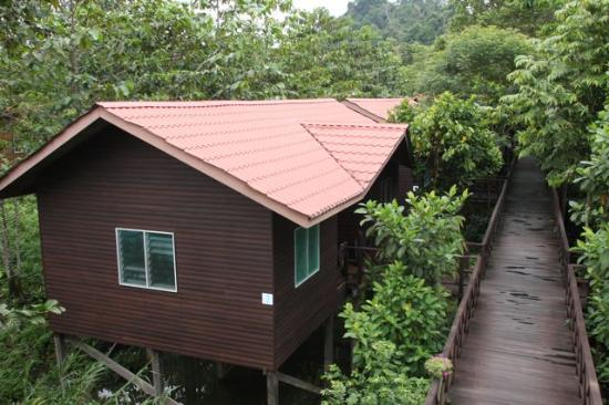 Kinabatangan Riverside Lodge: Many places to seat and observe the nature