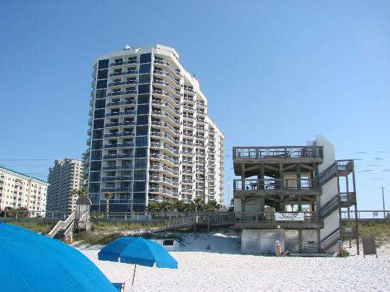 Surfside Resort: View from beach