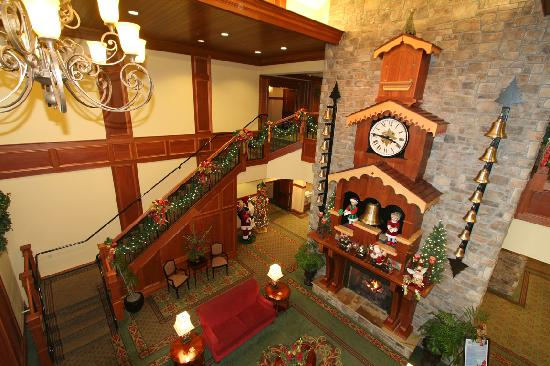 The Inn at Christmas Place: A 2nd-story view of our glockenspiel & caroling bells.
