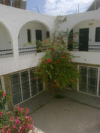 Roses Studios: from the front door overlooking courtyard