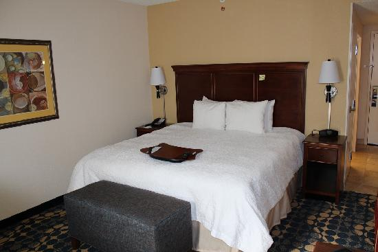 Hampton Inn & Suites Huntersville: Bedroom with king size