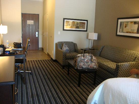 BEST WESTERN PLUS Austin Airport Inn & Suites: Other end; photo taken by beds.  Closet & bathroom are by the door which is a good place.