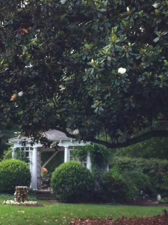 Fuquay Mineral Spring Inn and Garden: The historic gazebo was the summer dining room and features the original stone cooking fireplace