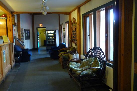 HI Lake Louise Alpine Centre : Lobby / Main Hallway on Ground Floor