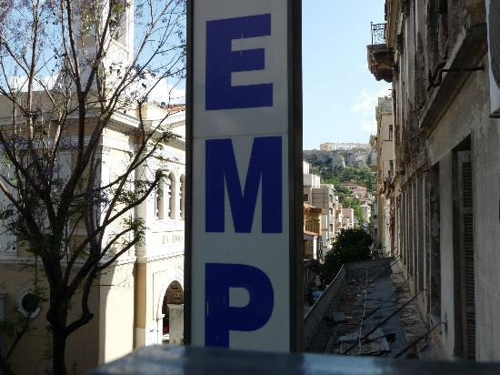 Hotel Tempi: Parthenon in distance