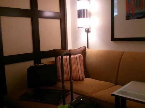 Hyatt Place Philadelphia / King of Prussia : lamps above the couch