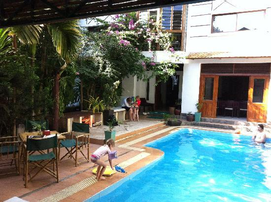 You Khin House: Pool with Restaurant