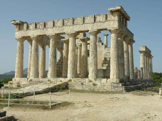 Temple of Aphaia, island of Aegina, Greece - Picture of ...