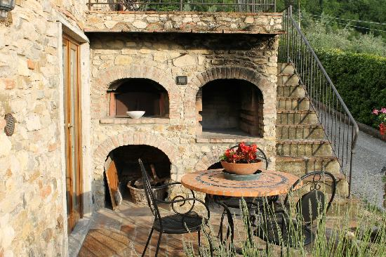 Grassina, Italy: Back patio
