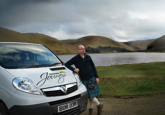 Borders Journeys: Ian Walker with Jeannie (minibus)