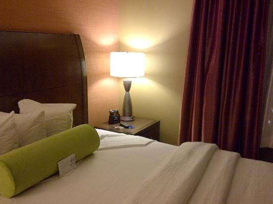 Hilton Garden Inn Arlington Courthouse Plaza: Closeup pillows/bedside