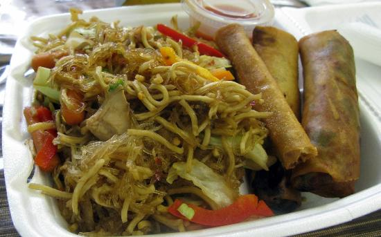 Pancit canton with lumpia picture of savannah authentic for Authentic filipino cuisine