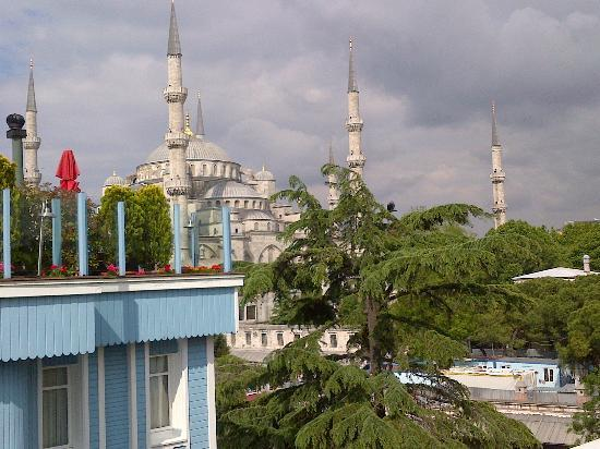 The Magnaura Palace: View of the Blue Mosque from the rooftop