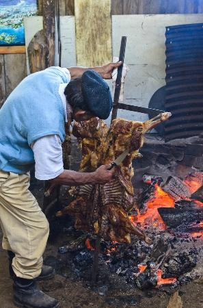 Valle Bonito Lodge: Lamb Asadero style