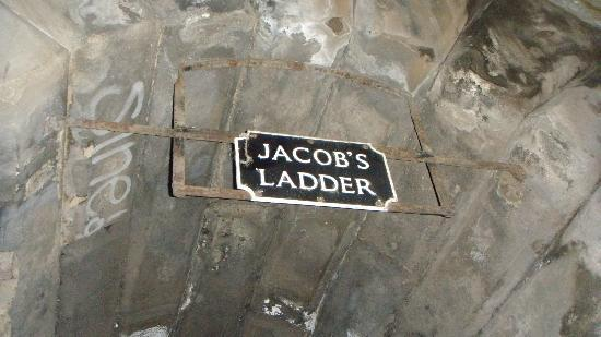 Jacob S Ladder Freaky Ladder With Uneven Steps Part Of The Ghost Tour Picture Of New