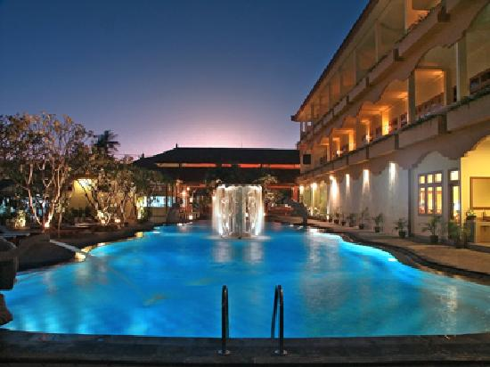 Febri's Hotel & Spa: Main Pool at Night and Exterior oof Superior Rooms