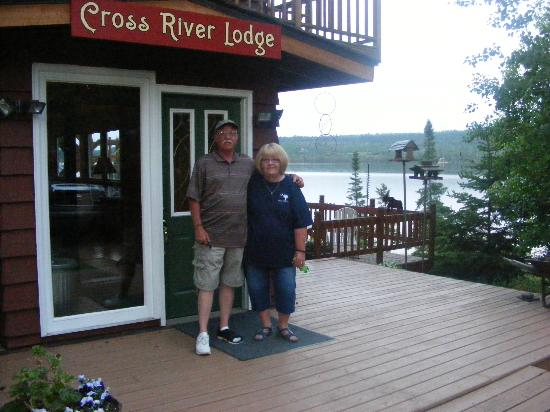 Cross River Lodge: My Wife and I on our last night at the Lodge