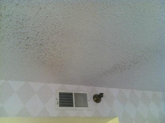 Comfort Suites: The Air from the vent is turning the ceiling black...hmmm....