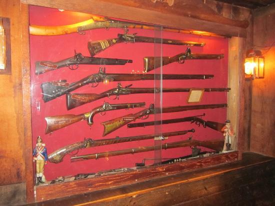 Griswold Inn: Part of the collection of firearms on display