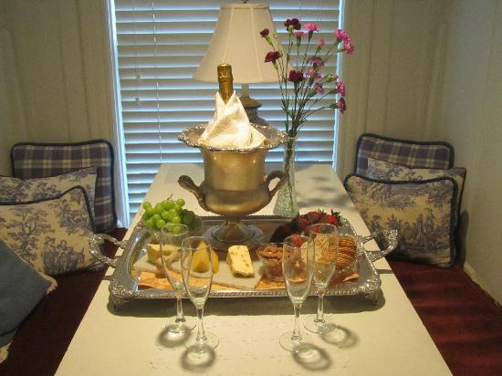 Swann House: Anniversary Tray in room