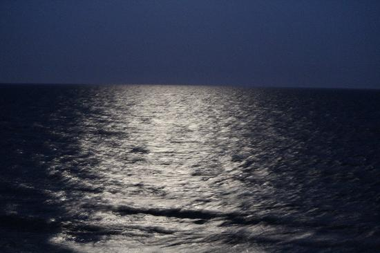 Paradise Resort: Moonlight on water from the Balcony