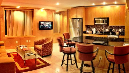 The Eldon Luxury Suites: sitting-kitchen area of Eldon suite