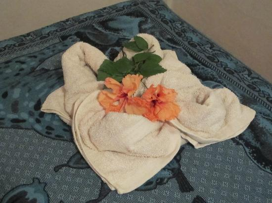 Casita Corcovado: Our Bed`s were always beautiful decoraded