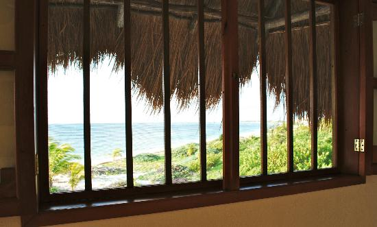 Mayan Beach Garden: One of many windows. This one in front of bed. Great cross air circulation.